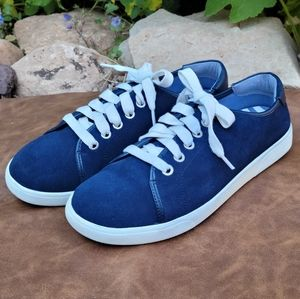 Vionic Blue Velvety Suede Sneakers Size 8